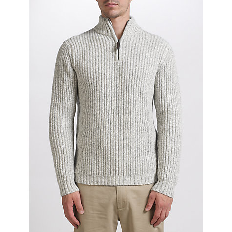 Buy John Lewis Roving Fisherman 1/4 Zip Jumper, Natural White Online at johnlewis.com