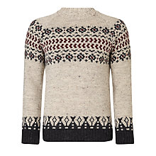Buy JOHN LEWIS & Co. Sheep Breed Jacquard Yoke Crew Neck Jumper, Natural Online at johnlewis.com
