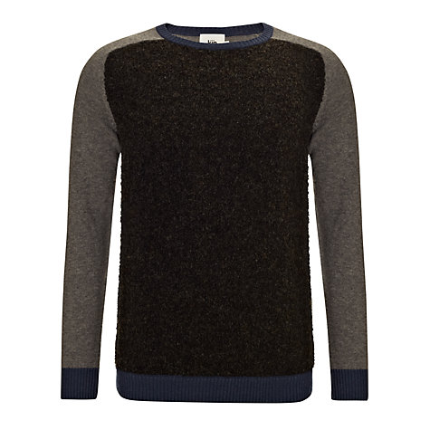 Buy Kin by John Lewis Contrast Panel Jumper, Grey/Black Online at johnlewis.com