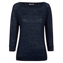 Buy Jigsaw Linen Raglan Top Online at johnlewis.com