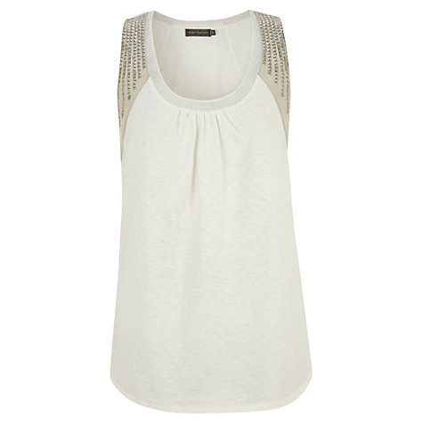 Buy Mint Velvet Sequin Vest Top, Ivory Online at johnlewis.com