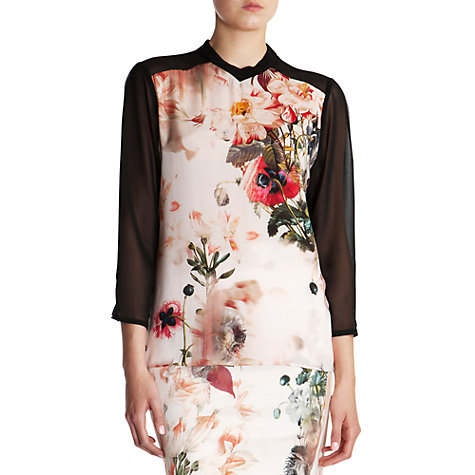 Buy Ted Baker Ivor Bloom Print Shirt, Shell Online at johnlewis.com