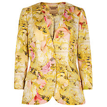 Buy Ted Baker Nerys Tea Party Print Jacket, Natural Online at johnlewis.com