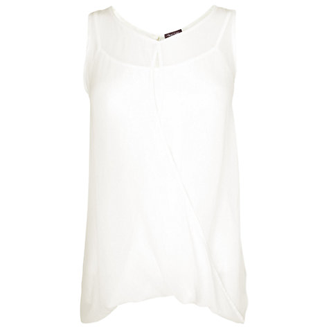 Buy Phase Eight Made in Italy Edwina Drapey Blouse, White Online at johnlewis.com