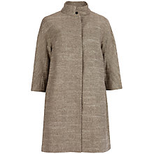 Buy Ted Baker Osalin Jacquard Coat, Gold Online at johnlewis.com