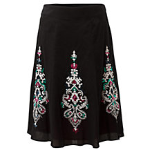 Buy East Ormolu Embellished Skirt, Black Online at johnlewis.com