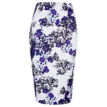 Buy Jigsaw Toile De Jouy Print Skirt, Purple Online at johnlewis.com