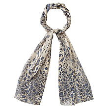 Buy CC Leopard Print Scarf, Blue Multi Online at johnlewis.com