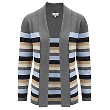 Buy CC Stripe Cardigan, Chalk Blue Online at johnlewis.com