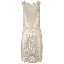 Buy Jigsaw Sequin Dress, Nude Online at johnlewis.com