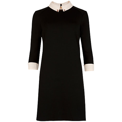 Buy Ted Baker Katt Contrast Collar Dress, Black Online at johnlewis.com