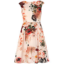 Buy Ted Baker Rupin Bloom Dress, Natural Online at johnlewis.com