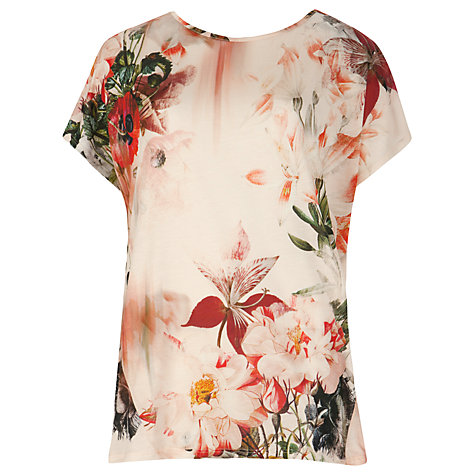 Buy Ted Baker Obloom Print Top, Shell Online at johnlewis.com