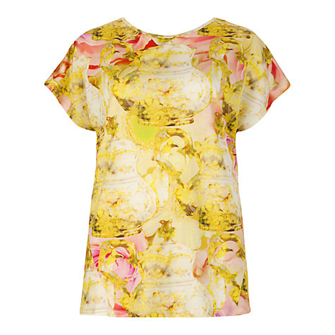 Buy Ted Baker Tepar Printed T-Shirt, Shell Online at johnlewis.com