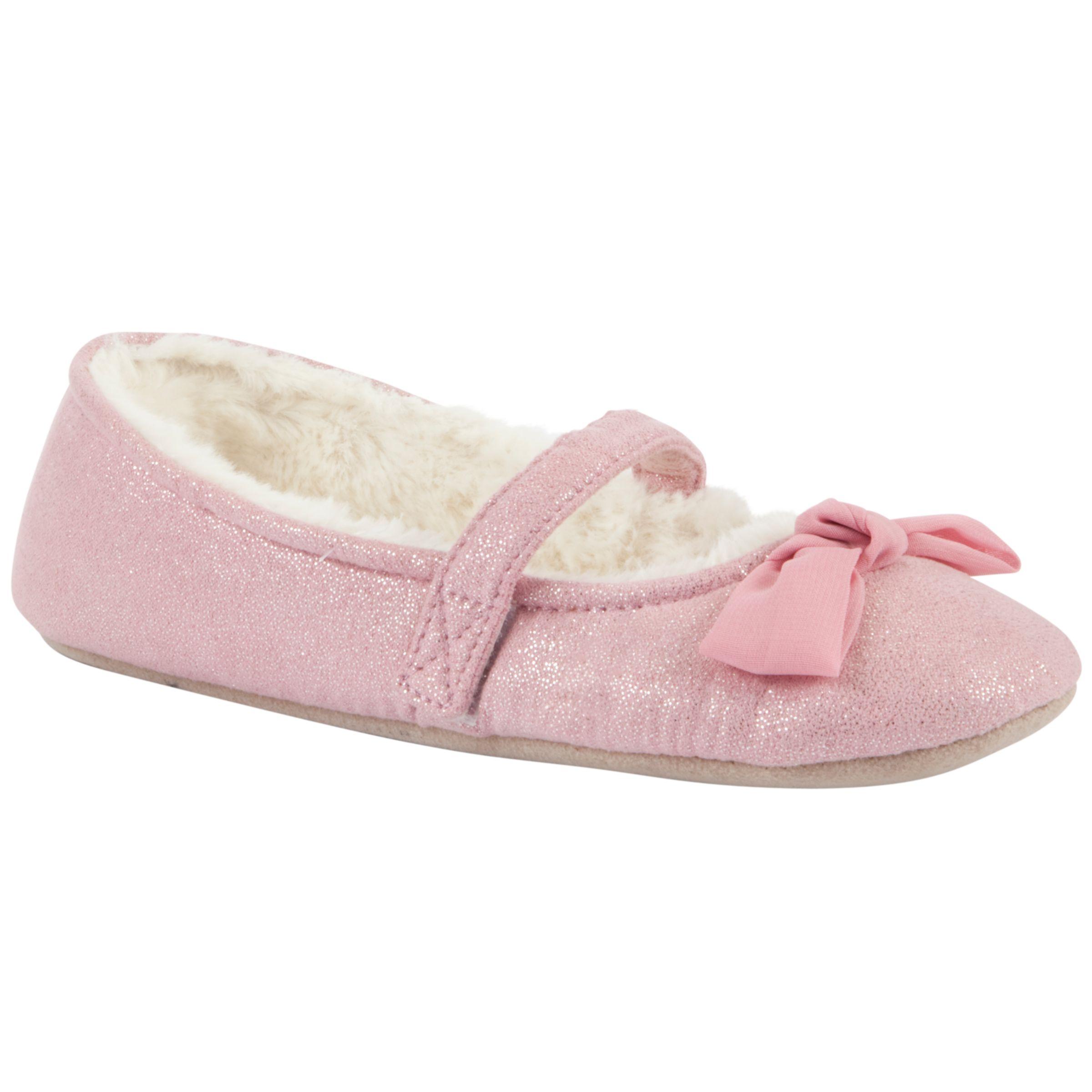 John Lewis Girl Sparkle Ballet Slippers, Pink