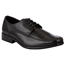 Buy John Lewis Boy Square Toe Formal Lace Up Shoes, Black Online at johnlewis.com