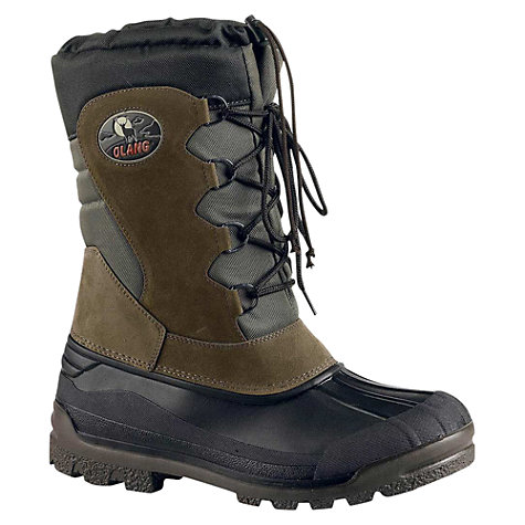 Buy Olang Canadian Snow Boots, Earth Brown Online at johnlewis.com