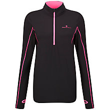 Buy Ronhill Base Thermal Half Zip Top, Black/Pink Online at johnlewis.com
