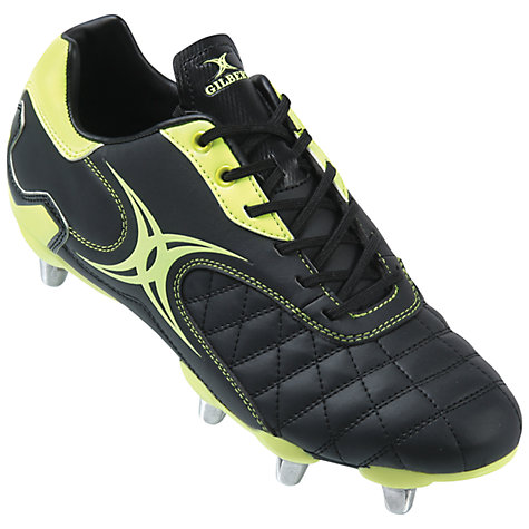 Buy Gilbert Sidestep Revolution Rugby Boots, Black/Lime Online at johnlewis.com