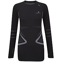 Buy Ronhill Base Seamless Long Sleeve, Black/Grey Online at johnlewis.com