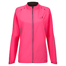 Buy Ronhill Vizion Windlite Jacket, Pink/black Online at johnlewis.com