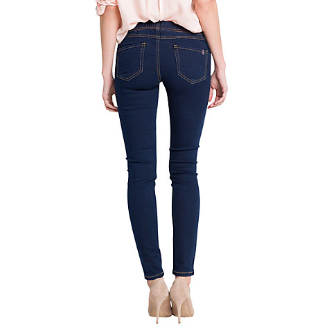 Buy Mango Elastic Jeggings, Dark Blue Online at johnlewis.com