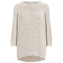 Buy Whistles Shelley Tuck Sweater, Neutral Online at johnlewis.com