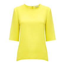 Buy Whistles Sculptured Top, Yellow Online at johnlewis.com
