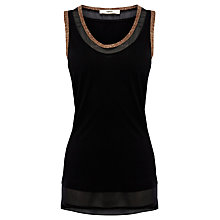 Buy Oasis Metallic Trim Vest Online at johnlewis.com