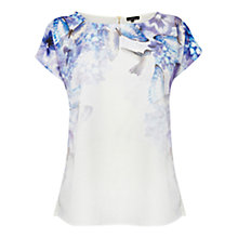 Buy Warehouse Hummingbird T-Shirt, Purple Pattern Online at johnlewis.com