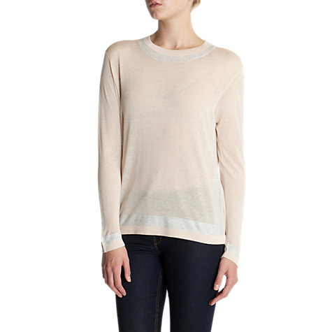 Buy Ted Baker Arria Striped Neckline Jumper, Shell Online at johnlewis.com