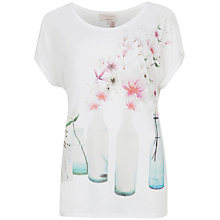 Buy Ted Baker Areara Bottle Print T-Shirt, White Online at johnlewis.com