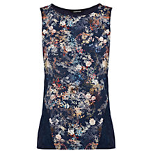 Buy Warehouse Oriental Pattern Vest Top, Blue Pattern Online at johnlewis.com
