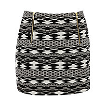 Buy Warehouse Ikat Skirt, Black Multi Online at johnlewis.com
