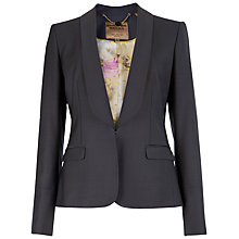 Buy Ted Baker Laelt Shiny Suit Jacket, Ash Online at johnlewis.com