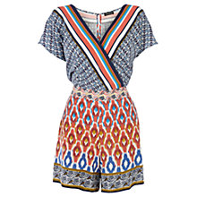 Buy Warehouse Aztec Print Playsuit, Multi Online at johnlewis.com