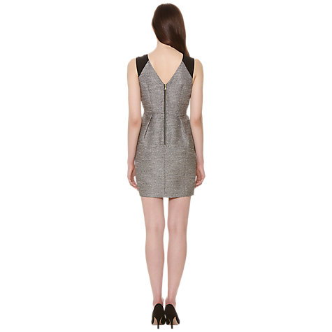 Buy Whistles Noel Sparkle Jacquard Dress, Silver Online at johnlewis.com