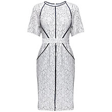Buy Whistles Rebecca Lace Dress, Grey Online at johnlewis.com