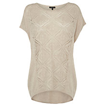 Buy Warehouse Capped Sleeve Jumper, Beige Online at johnlewis.com