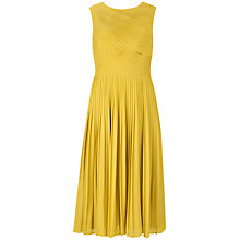 Buy Ted Baker Yalena Pleated Midi Dress, Olive Online at johnlewis.com