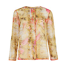 Buy Ted Baker Rubea Tea Part Print Top, Shell Online at johnlewis.com