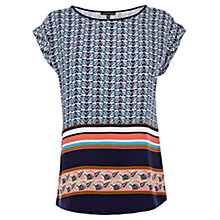 Buy Warehouse Aztec Print T-Shirt, Multi Online at johnlewis.com