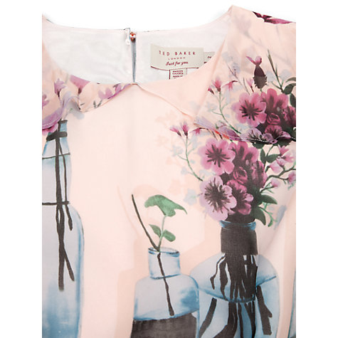 Buy Ted Baker Bottle Print Dress, Shell Online at johnlewis.com