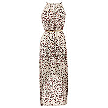Buy Oasis Dip Hem Maxi Dress, Animal Online at johnlewis.com