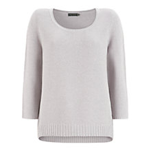 Buy Mint Velvet Waffle Jumper, Lilac Online at johnlewis.com
