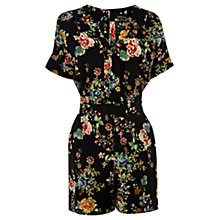 Buy Warehouse Oriental Floral Playsuit, Multi Online at johnlewis.com