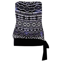 Buy Warehouse Tribal Bandeau Print Top,  Purple Pattern Online at johnlewis.com
