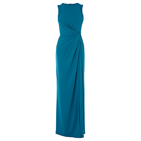 Buy Warehouse Twist Front Maxi Dress, Teal Online at johnlewis.com