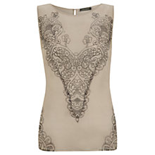 Buy Mint Velvet Lace Print Shell Top, Multi Online at johnlewis.com