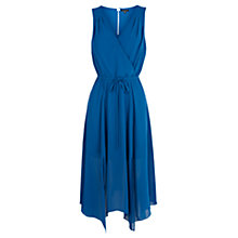 Buy Warehouse Split Side Midi Dress, Blue Online at johnlewis.com